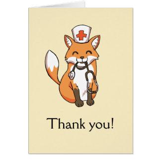Cartão Doutor bonito Equipa de tratamento da enfermeira