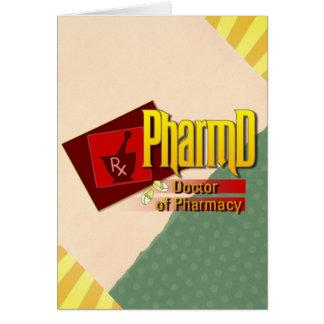 Cartão Doutor de PharmD do LOGOTIPO da farmácia