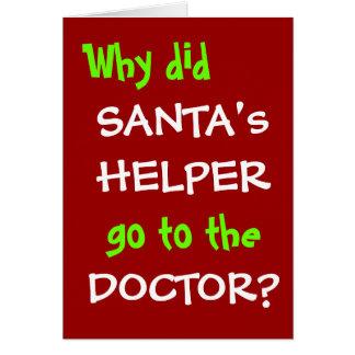 Cartão Doutor engraçado Gracejo do Natal - chalaça do