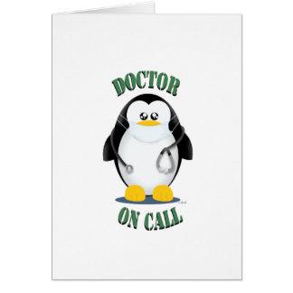 Cartão Doutor no pinguim da chamada