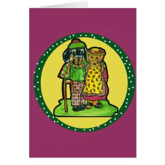 Cartão Doxies grandes do pai