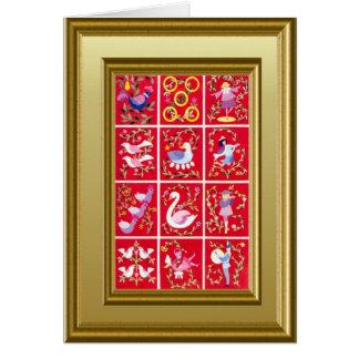 Cartão Doze dias do Natal