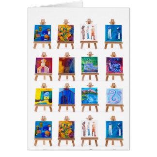 Cartão Doze mini pinturas em armações