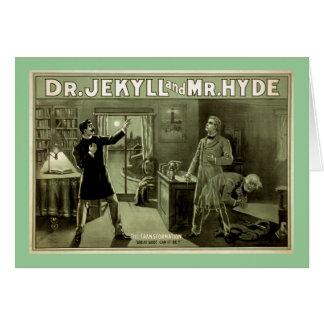 Cartão Dr. Jekyll Vintage Teatro Poster
