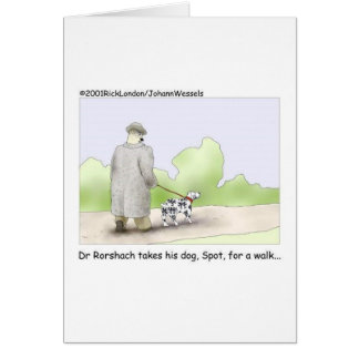 Cartão Dr. Roarshach Desenhos animados Presente,