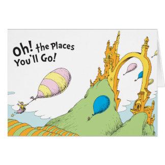 Cartão Dr. Seuss | oh! Os lugares você irá!