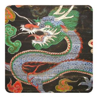Cartão Dragão asiático do partido de comensal |