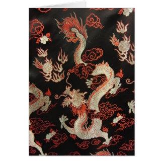 Cartão Dragão chinês de prata