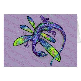 Cartão Dragão da libélula