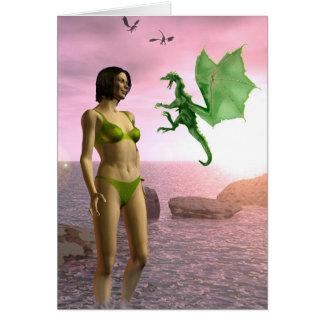 Cartão Dragão da praia