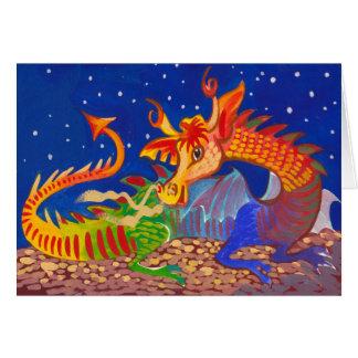 Cartão Dragão do arco-íris