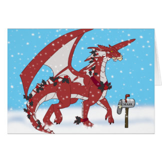 Cartão Dragão do Natal