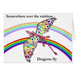 Cartão Dragão e arco-íris
