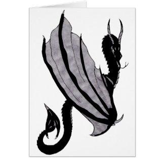 Cartão Dragão escuro