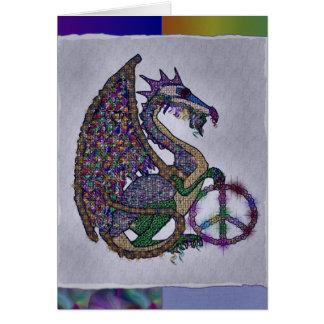 Cartão Dragão Jeweled da paz
