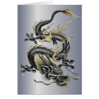 Cartão Dragão metálico