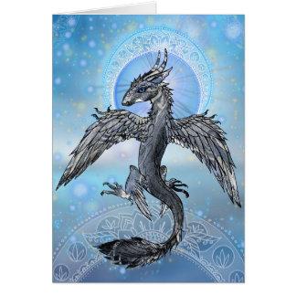 Cartão Dragão místico do pássaro