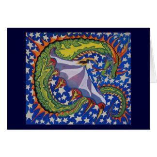Cartão Dragão nas estrelas