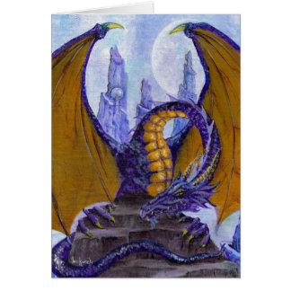 Cartão dragão roxo
