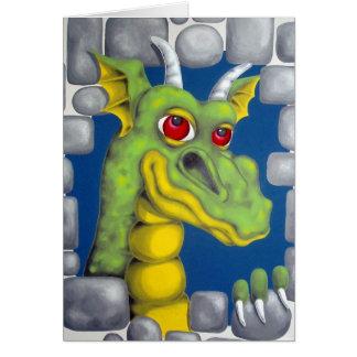 Cartão Dragão verde