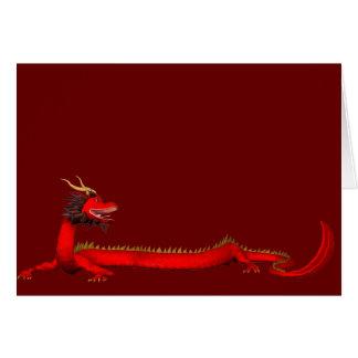 Cartão Dragão vermelho