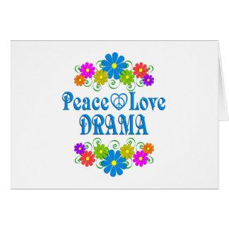 Cartão Drama do amor da paz