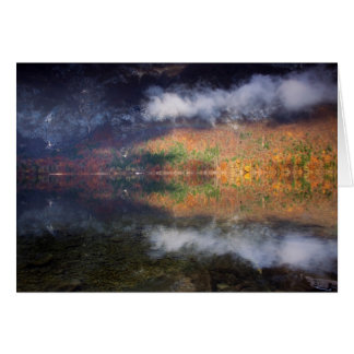 Cartão Drama pelo lago