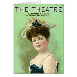 Cartão dramático da atriz