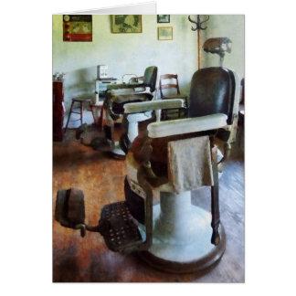 Cartão Duas cadeiras de barbeiro