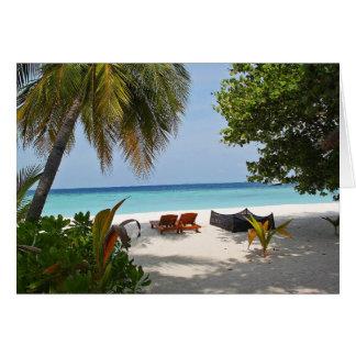 Cartão Duas cadeiras/vindas ao paraíso?