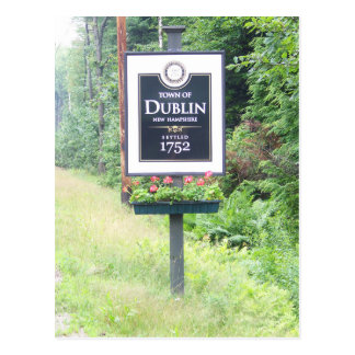 Cartão Dublin, New Hampshire