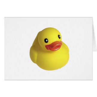 Cartão Ducky de borracha amarelo