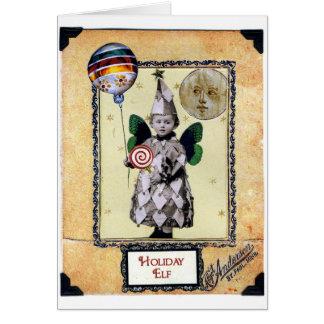 Cartão Duende do feriado