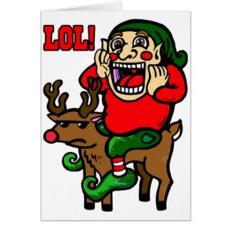 Cartão Duende do Natal de LOL
