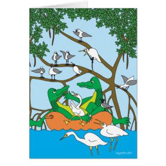 Cartão Dueto de cruzamento - os jacarés