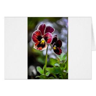 Cartão Duo da flor do amor perfeito do Bordéus