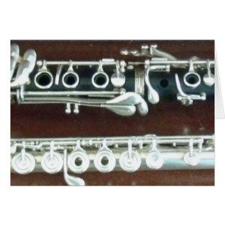 Cartão Duo do clarinete e da flauta