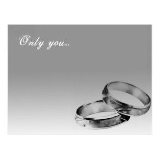 Cartão duplo dos anéis