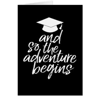 Cartão E assim a aventura começa - a graduação