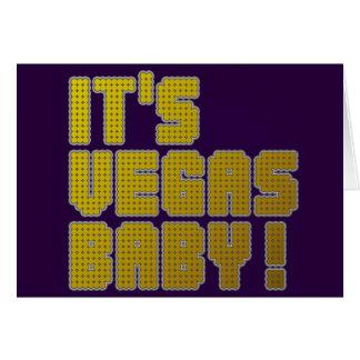 Cartão É bebê de Vegas!