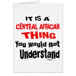 CARTÃO É DESIGN DA ÁFRICA CENTRAL DA COISA