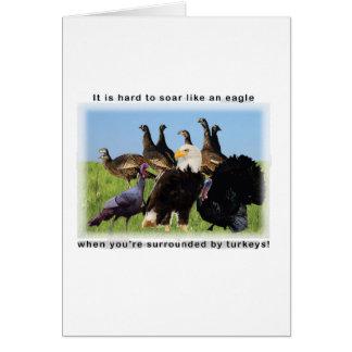 Cartão É duro subir como uma cotação da águia