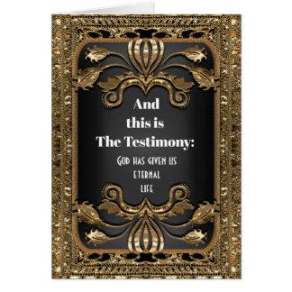 Cartão E este é o Natal do Jesus Cristo do testemunho