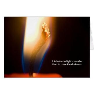Cartão É melhor iluminar uma vela