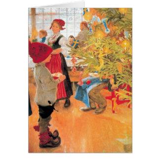 Cartão É menino do tempo do Natal outra vez - que olha a