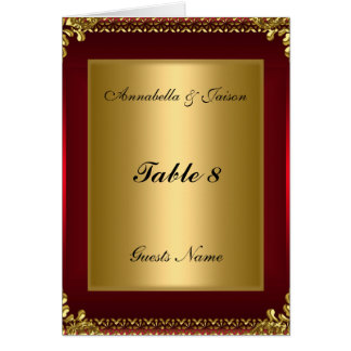 Cartão e menu da colocação da mesa