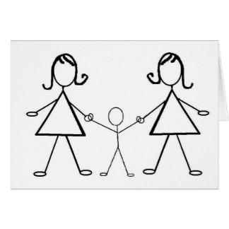 Cartão E o bebê faz três!
