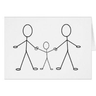 Cartão E o bebê faz três