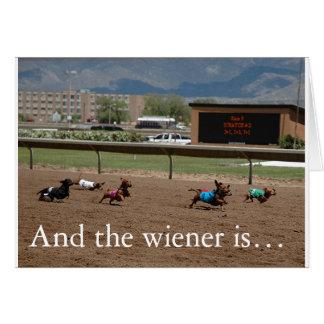 Cartão E o wiener é…