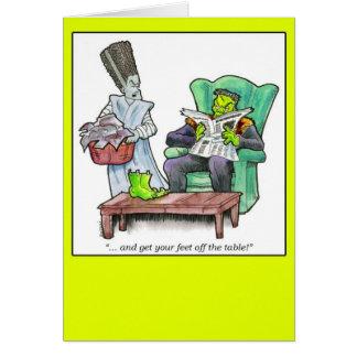 """Cartão """"… e obtenha seus pés fora da mesa! """""""